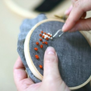 Learn How to Create A French Knot Embroidery