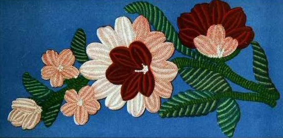 Types of Embroidery - Arrasene embroidery