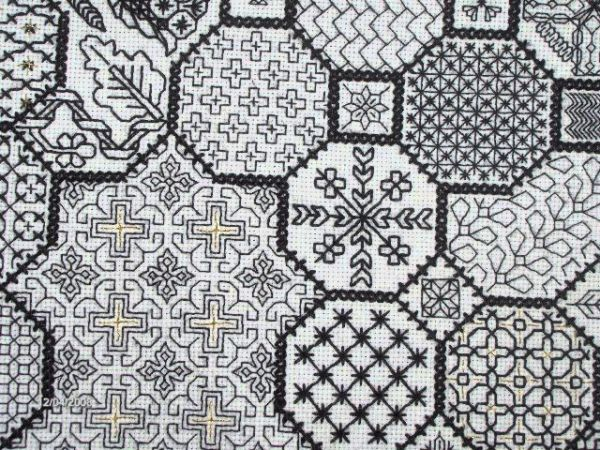 Types of Embroidery - Blackwork embroidery