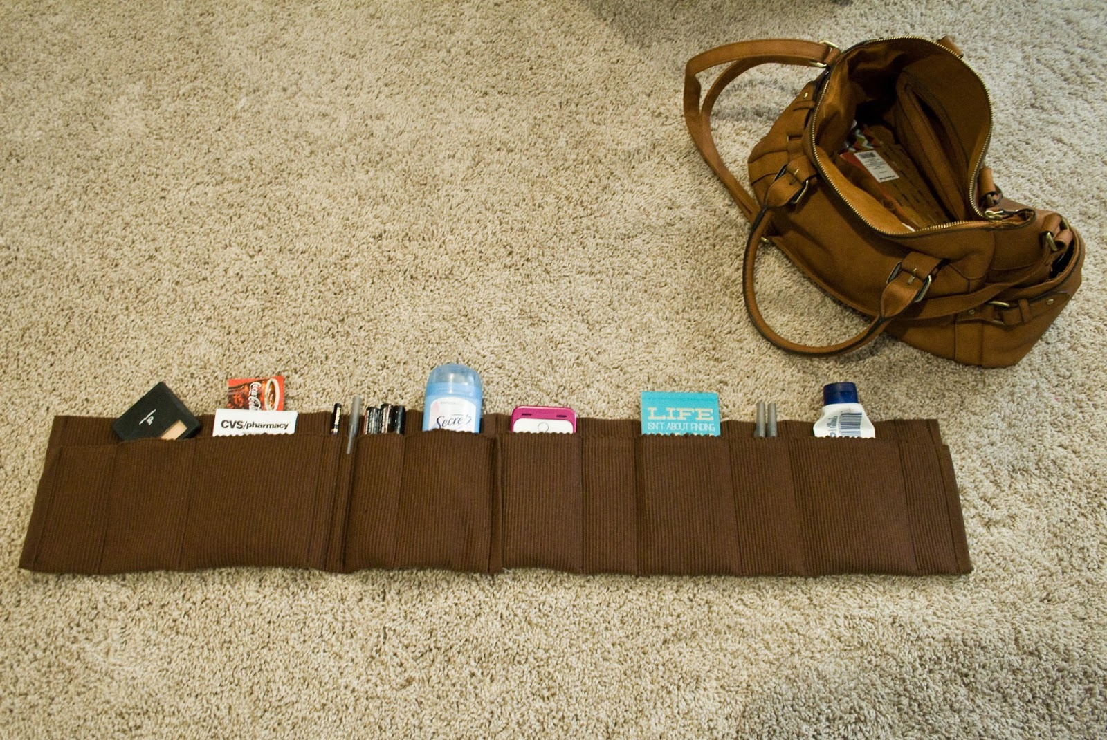 Sewing projects for kids #33 - Purse organizer