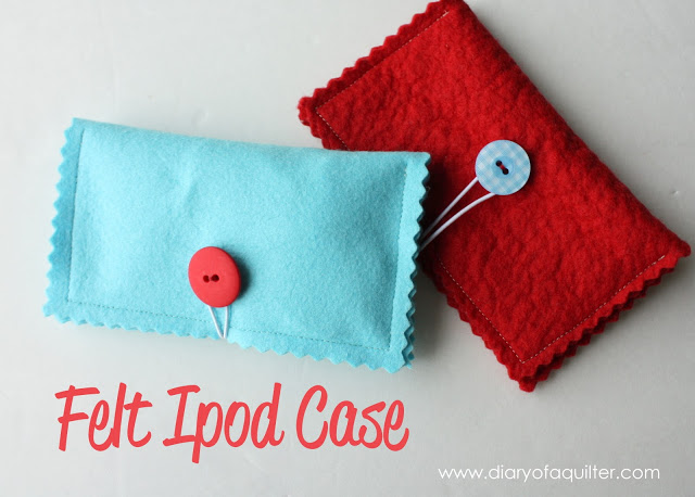 Sewing projects for kids #5 - Felt iPod case