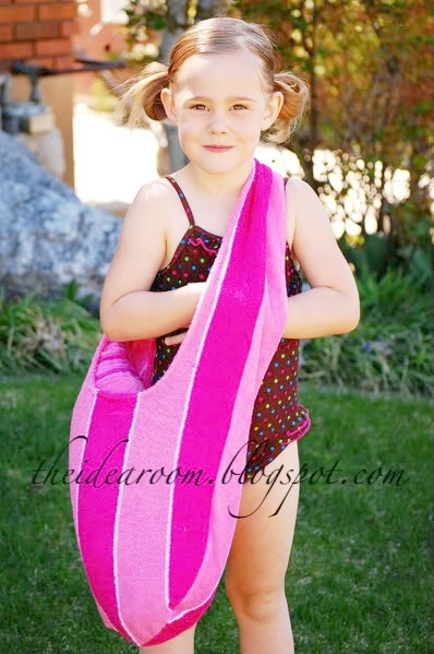 Sewing projects for kids #23 - Towel swim bag