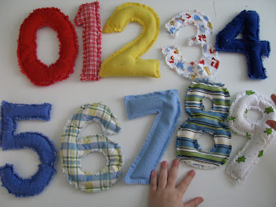 Sewing projects for kids #30 - Bean bag numbers