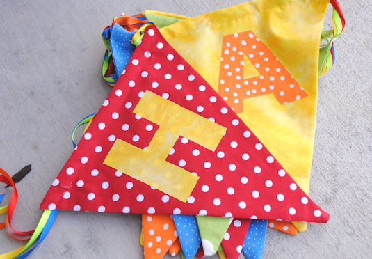 Sewing projects for kids #25 - Birthday banner