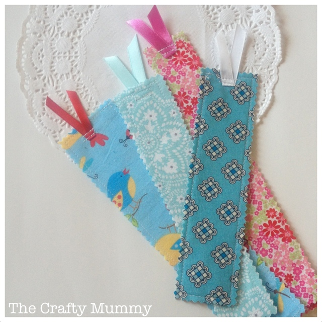 Sewing projects for kids #3 - Fabric bookmarks