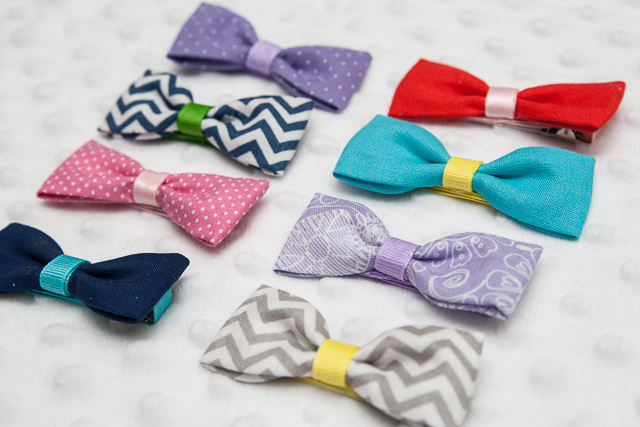 Sewing projects for kids #7 - Fabric bows