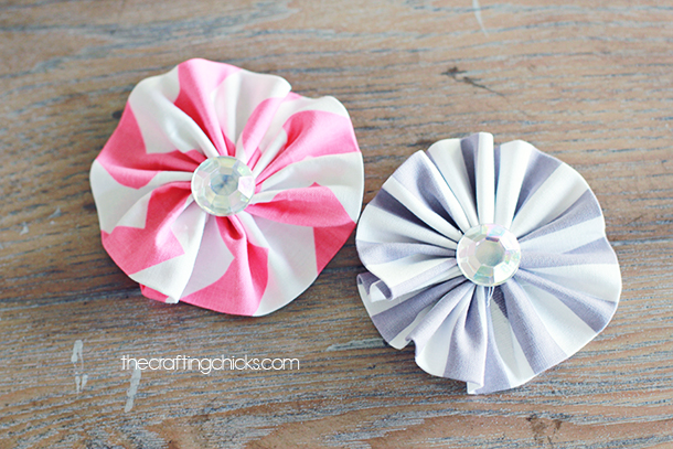 Sewing projects for kids #8 - Fabric flowers