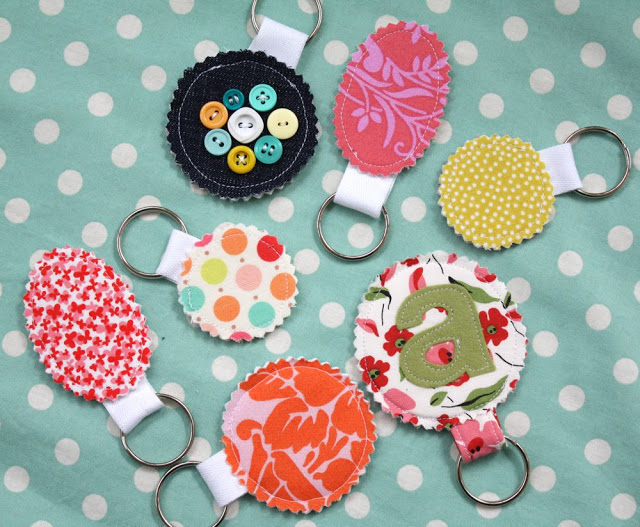 Sewing projects for kids #2 - Key chains from fabric