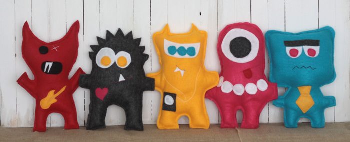Sewing projects for kids #18 - Felt monsters