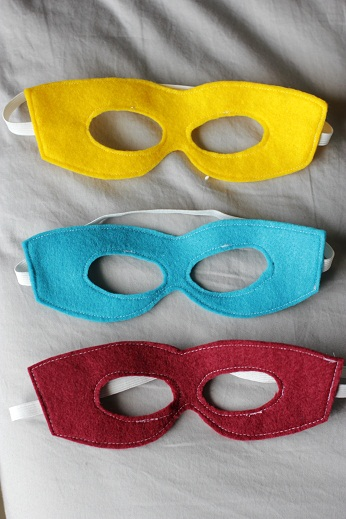 Sewing projects for kids #6 - Super hero masks