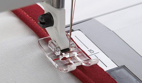 Sewing Lace Using Transparent Presser Foot