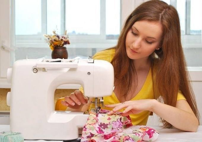 Practice your first trial with a sewing machine