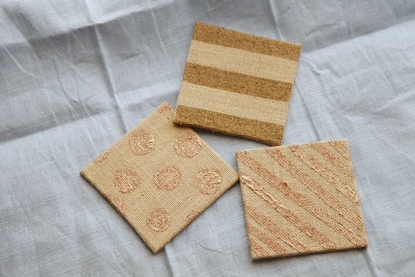 Burlap Decorating Ideas #17: Burlap Coasters
