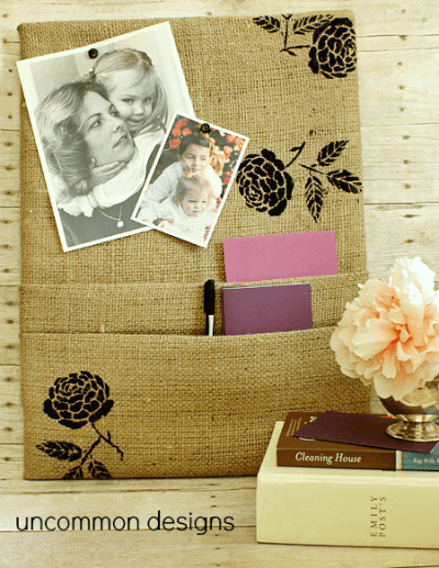 Burlap Decorating Ideas #16: Burlap Cork Board