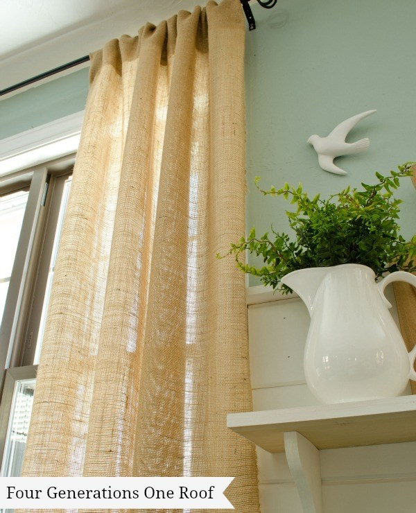Burlap Decorating Ideas #12: Burlap Curtains