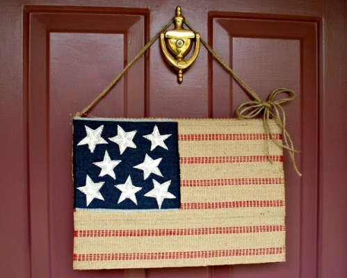 Burlap Decorating Ideas #24: Burlap Flag