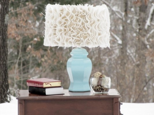 Burlap Decorating Ideas #14: Burlap Lampshade