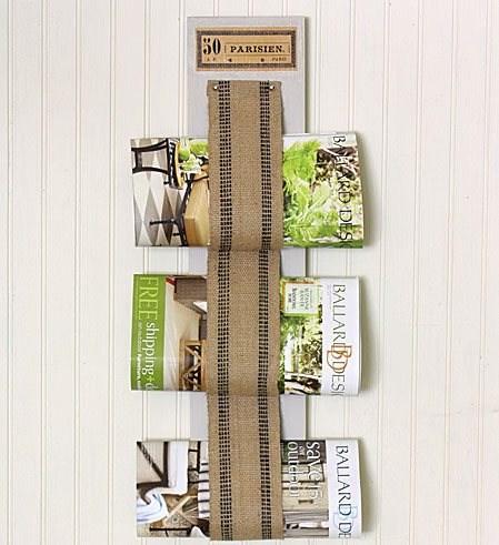 Burlap Decorating Ideas #21: Burlap Magazine Rack
