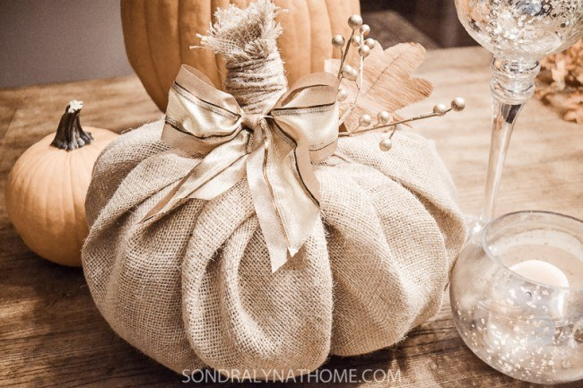 Burlap Decorating Ideas #9: Burlap Pumpkin