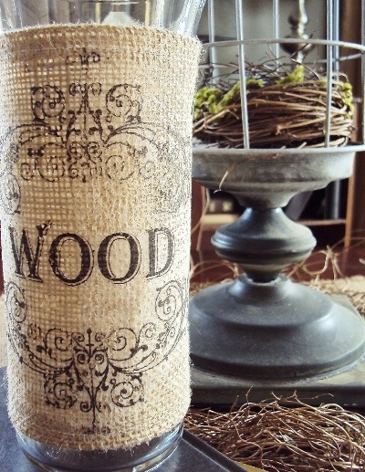 Burlap Decorating Ideas #18: Burlap Vase Cover