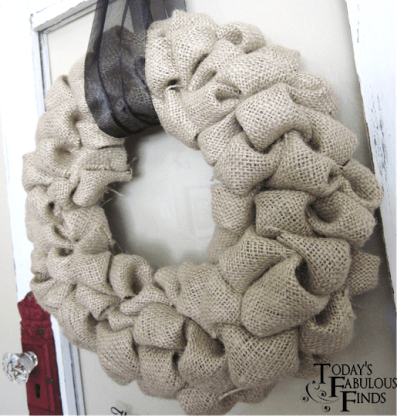 Burlap Decorating Ideas #11: Burlap Bubble Wreath