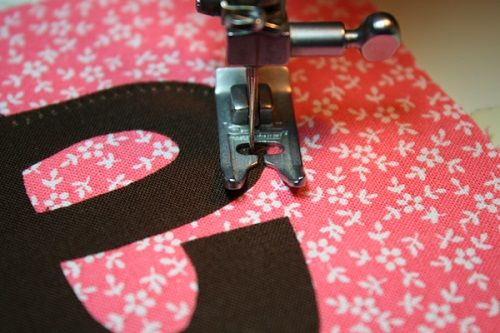 Stitch Around the Applique Area